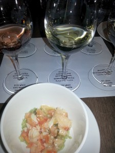 Latour-Giraud Meursault-Genevrieres 1er Cru 2012 with Crab and lobster bamboo rice