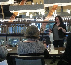 Rachelle Goudreau, Sommelier at Provence Marinaside telling us about their wines by the glass
