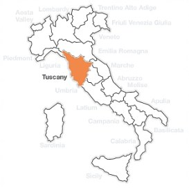 Tuscany wine region