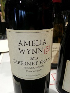 Amelia Wynn Winery Kiona Vineyards Cabernet Franc 2013