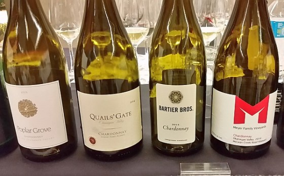 4 BC VQA Chardonnay wines