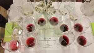 BC VQA VIP tasting glasses with wine
