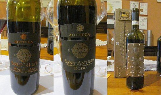 Bottega 2 Brunello di Montalcino and Sant' Antimo Rosso wines