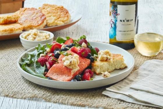 Inkameep Cellars wine and Aboriginal dishes