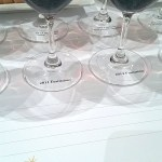 LaStella wines in glasses at an angle