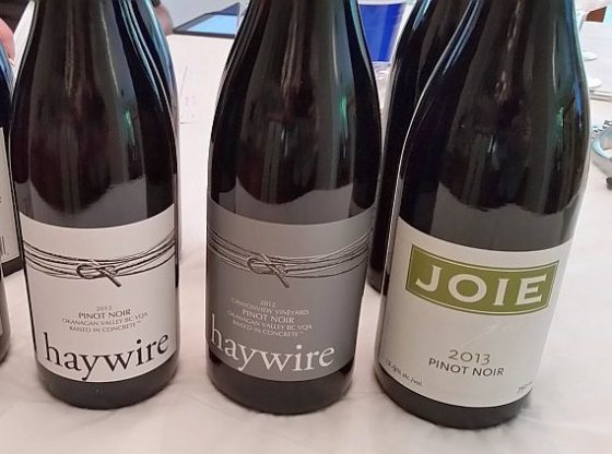 Haywire and JoieFarm Pinot Noir wines
