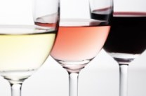 Red white and rose wines