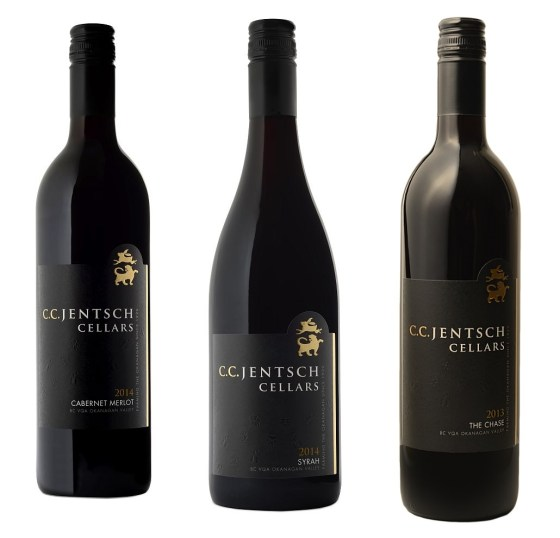 CC Jentsch Cabernet Merlot, Syrah, and The Chase red wines