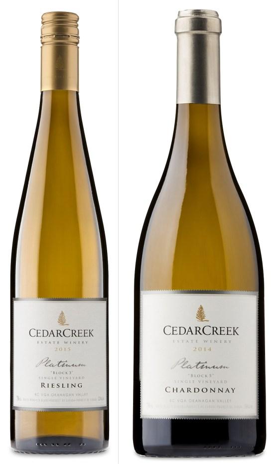 CedarCreek Estate Winery Platinum Block 3 Riesling and Platinum Block 5 Chardonnay