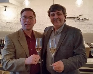 Karl MyWinePal with Rodolfo Opi Sadler from La Mascota Vineyards small