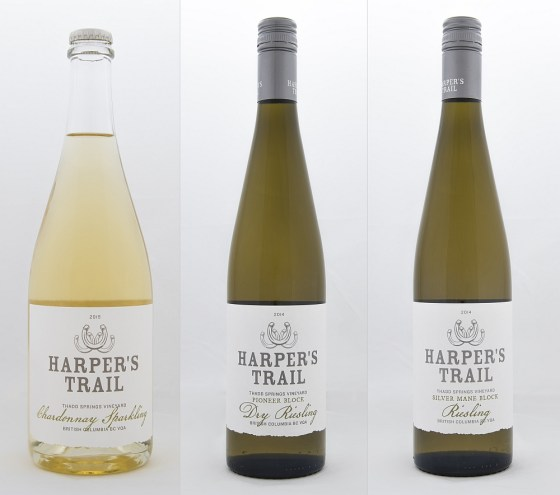 Harper's Trail Chardonnay Sparkling Pioneer Block Dry Riesling and Silver Mane Block Riesling