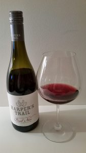 Harper's Trail Pinot Noir 2015 and glass
