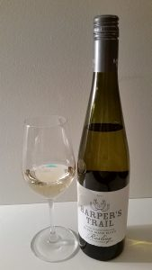 Harper's Trail Silver Mane BlockRiesling 2014 and glass