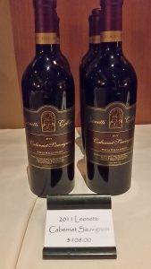 Leonetti Cellars Cabernet Sauvignon 2011 bottles