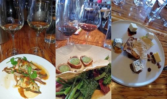 Calamari Farcis, Seared Albacore Tuna, and Cheese Plate at Chambar Restaurant
