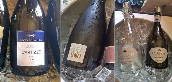 Prosecco selection from Bacio Della Luna, Bellenda, and Ca' Di Rajo