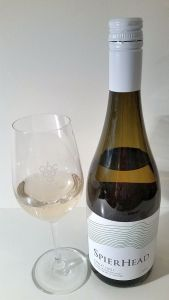 SpierHead Pinot Gris 2016 bottle and glass of wine