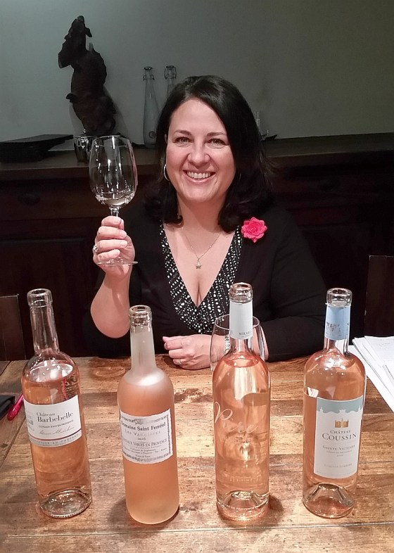 Valerie Lelong, Marketing and Communications Export Manager from Vins de Provence with 4 rosés to sample