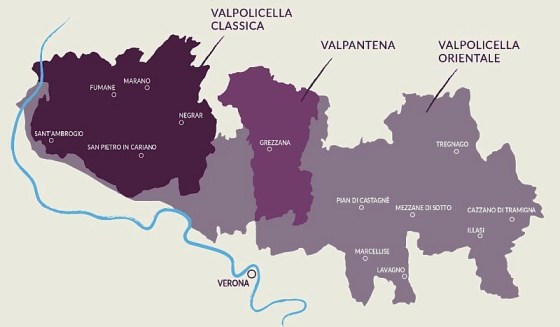 Valpolicella map
