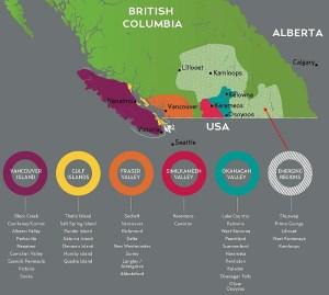 BC wine regions map