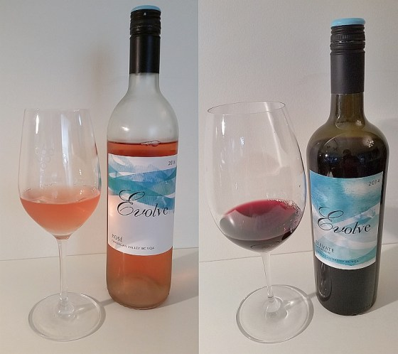 Evolve Cellars Rose and Elevate Carmenere
