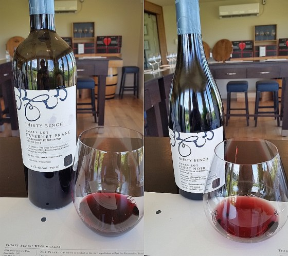 Thirty Bench Small Lot Cabernet Franc and Small Lot Pinot Noir 2014