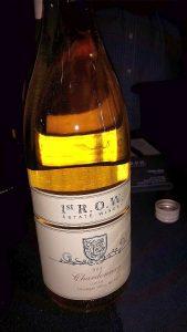1st R.O.W. Estate Winery Unoaked Chardonnay 2014