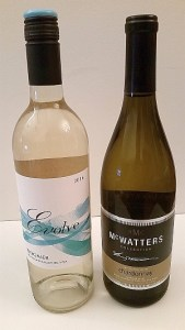 Evolve Cellars Viognier and McWatters Collection Chardonnay
