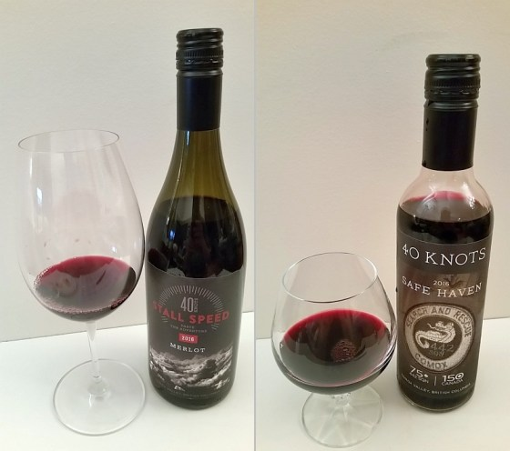 40 Knots Stall Speed Merlot 2016 and 442 Safe Haven Fortified