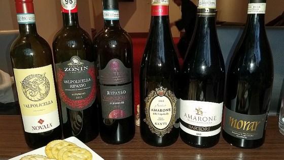 A range of Valpolicella wines including Ripasso and Amarone