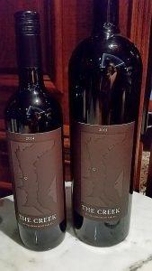 Tinhorn Creek The Creek 2014 and 2015 bottles