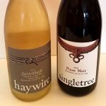 Haywire Pinot Gris and Singletree Pinot Noir 2015