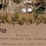 Latin Passion for Terroir menu