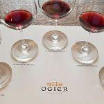 The Ogier Expression de Terroir Wines in glasses