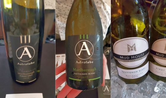 Astrolabe Pinot Gris and Sauvignon Blanc, and Mud House Sauvignon Blanc