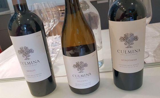 Culmina Merlot, Dilemma, and Hypothesis wines