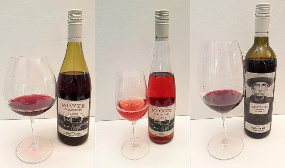 Monte Creek Ranch Pinot Noir, Rose, and Hands Up Red wines