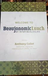 Beaujonomic lunch