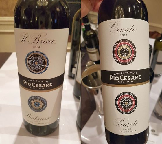 Pio Cesare Bricco Barbaresco 2014 and Ornato Barolo 2014