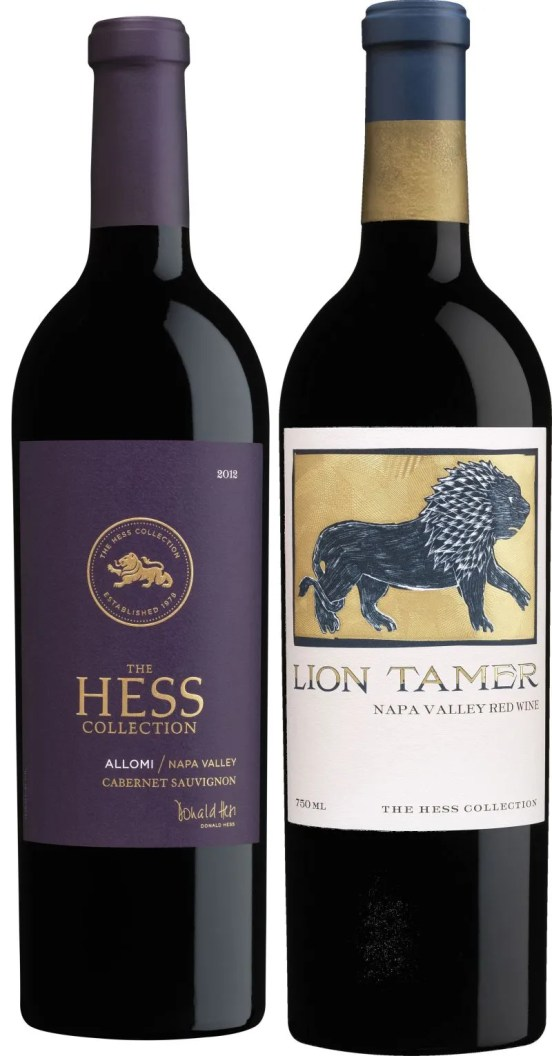 Hess Collection Allomi Cabernet Sauvignon and Lion Tamer wines