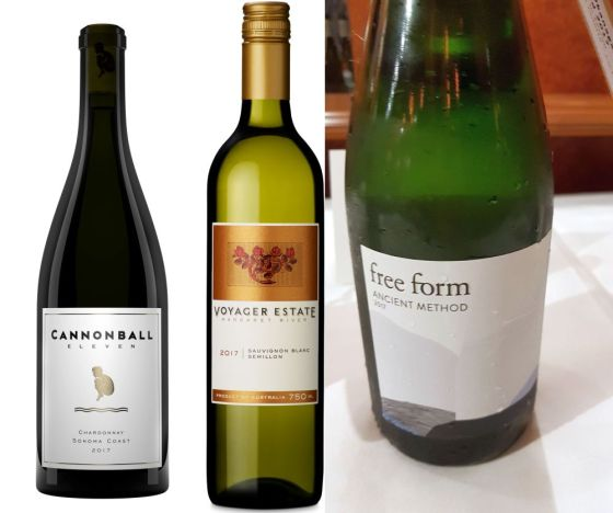 Share A Splash Wine Company Cannonball 11 Sonoma Coast Chardonnay, Voyager Estate Semillon Sauvignon Blanc, and Okanagan Crush Pad Free Form Ancient Method