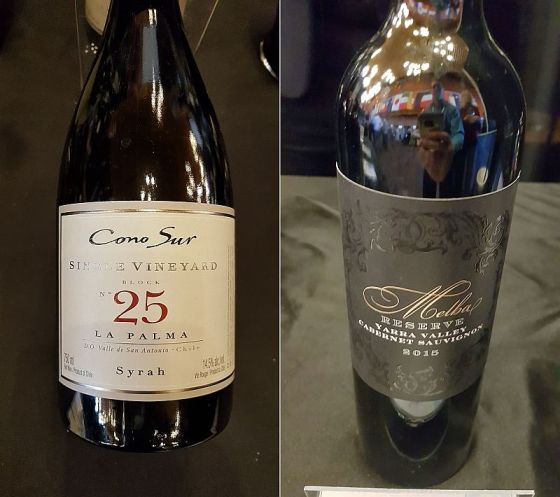Cono Sur Vineyards & Winery Single Vineyard Block No. 25 La Palma Syrah 2017 and De Bortoli Wines Melba Lucia Reserve 2015 wines at VanWineFest 2019