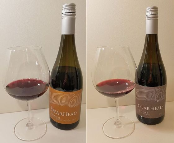 Spearhead Golden Retreat Vineyard and Spearhead Coyote Vineyard Pinot Noir 2017 wines