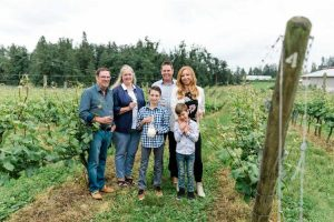 The Etsell Family. Photo by BC Wine Institute.