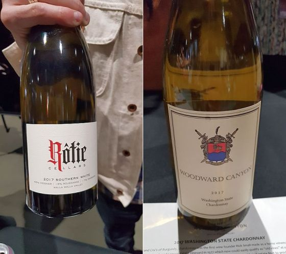 Rotie Cellars Southern White Rhone Blend and Woodward Canyon Winery Chardonnay at Taste WA