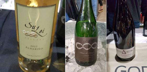 SuLei Cellars Albarino and Extra Brut Sparkling Chardonnay, and Tetrahedron Chardonnay at Taste WA