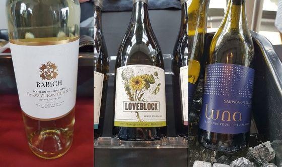 Babich Wines Sauvignon Blanc, Loveblock Vintners Sauvignon Blanc, and Luna Estate Sauvignon Blanc 2018 wines