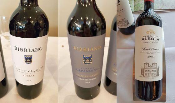 Bibbiano Chianti Classico DOCG Riserva and Gran Selezione Vigna del Capannino 2015, and Castello di Albola Chianti Classico DOCG 2015