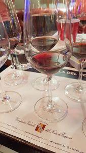 CVNE wines in glass for us to taste