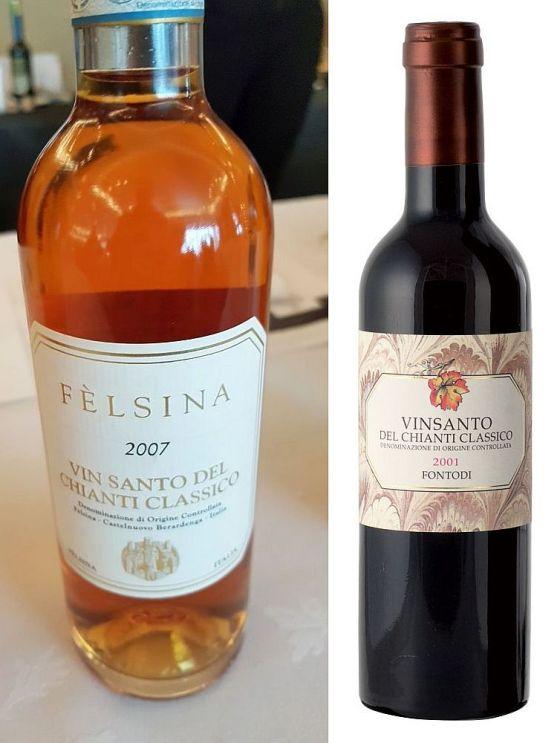Felsina Vin Santo del Chianti Classico DOC 2007 and Fontodi Vin Santo del Chianti Classico DOC (Fontodi image courtesy fontodi.com)